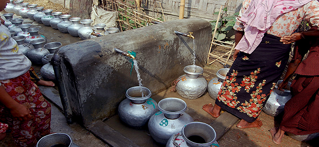 Lada refugee camp always faced water crisis in the summer season